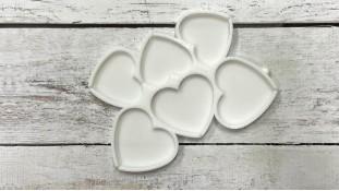 Силиконовый молд для леденцов Сердца, 6 шт
