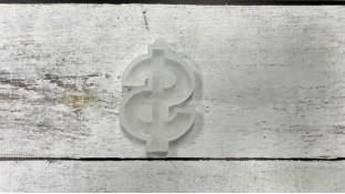 Силиконовый молд для леденцов Знак Доллар