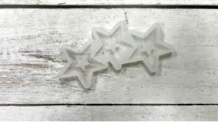 Силиконовый молд для леденцов Звезды №2