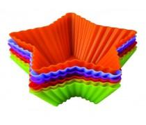 Набор порционных силиконовых форм Корзиночка-Звёздочка. 10 штук