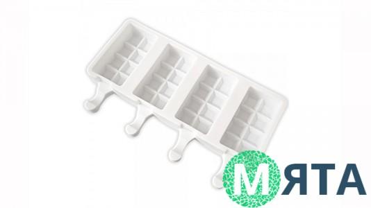 Силиконовая форма для мороженого Эскимо Плитка