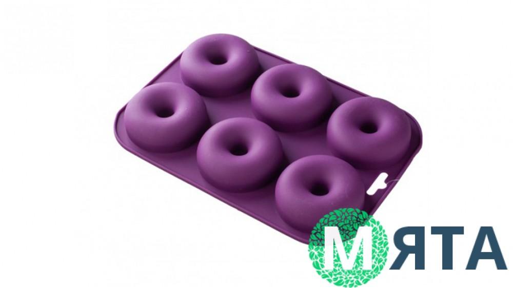 Силиконовая форма для пончиков, 6 шт