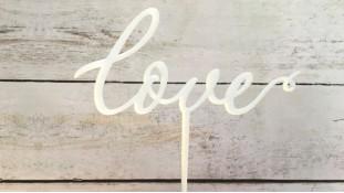 Топпер Love №2, акрил