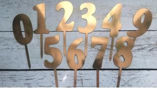 Топпер-цифра №4, картон