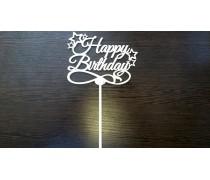 """Топпер """"Happy Birthday"""" 2, дерево"""