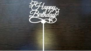 Топпер Happy Birthday 2, дерево