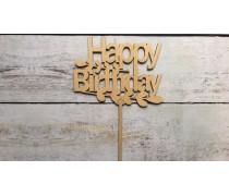 """Топпер """"Happy Birthday"""" №11, дерево"""