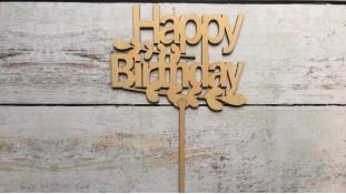 Топпер Happy Birthday №11, дерево
