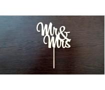 """Топпер """"Mr & Ms"""" 3, дерево"""