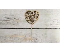 Топпер Сердце с узорами , дерево