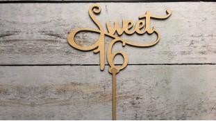 Топпер Sweet 16, дерево