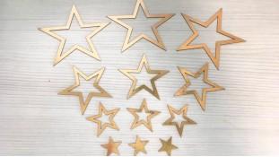 Топперы Звезды, картон