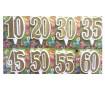 Свечи цифры юбилейные в золоте