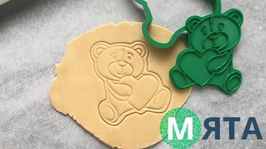 Вырубка + штамп Медведь №3