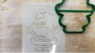 Вырубка + трафарет Дед Мороз