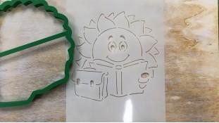 Вырубка + трафарет Солнце с Книгой