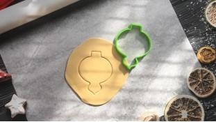 Вырубка Ёлочная игрушка №2